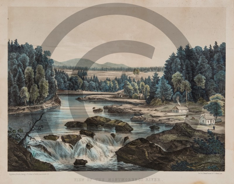 F. SILBER -- VIEW OF THE MONTMORENCI RIVER