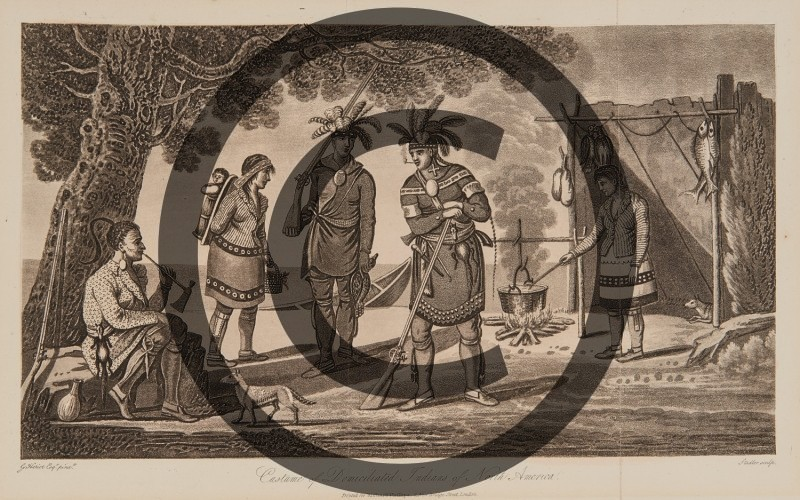 George Heriot-- Costume of Domiciliated Indians of North America